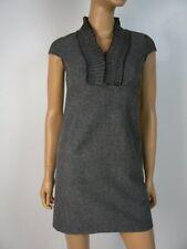 Ann Taylor Loft Gray Woven Wool Pintuck Cap Slv Sheath Dress 00 Petite NEW A754