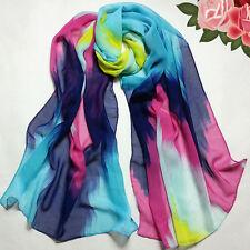 Women Fashion Colorful Casual Beach Travel Wrap Lady Shawl Chiffon Scarf Scarves