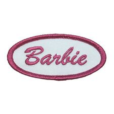 Barbie Name Tag Embroidered Iron On Uniform Applique Patch FD