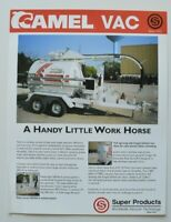 SUPER PRODUCTS CAMEL VAC 1999 dealer sheet brochure catalog - English - USA