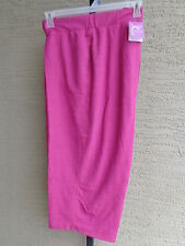 fab1401a7ba NWT JUST MY SIZE FRENCH TERRY JERSEY KNIT POCKET CAPRIS HEATHER RASPBERRY 4X