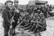 WW2 - Photo - Prisonniers allemands et blessés canadiens à Juno Beach le 6 juin