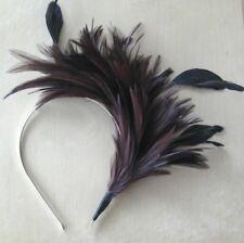brown feather headband fascinator millinery wedding 1