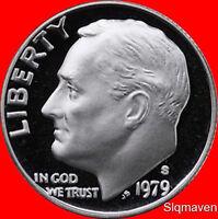1979 S Roosevelt Dime Type 2 Deep Cameo Gem Proof