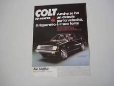 advertising Pubblicità 1981 MITSUBISHI COLT