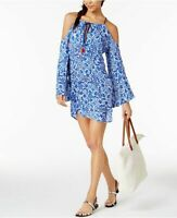 NANETTE LEPORE Blue Talavera Off Shoulder Swimsuit Cover Up Small NWT! $148