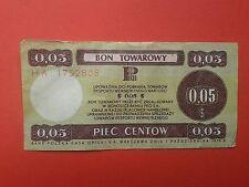 6. Poland - Bon towarowy Pekao 0,05$ - 1979