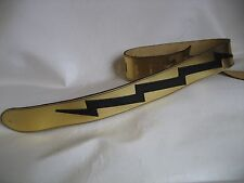 LEATHER GOLD/BLACK LIGHTING BASS, ACOUSTIC GUITAR STRAP