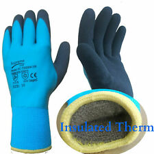 Waterproof Thermal Insulated Winter Work Gloves Fully Latex Coated Cold Safety