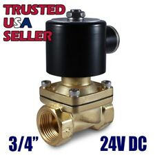 "3/4"" 24V DC Electric Brass Solenoid Valve Water Gas Air 24 VDC - FREE SHIPPING"