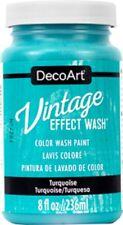 Decoart Vintage Effect Wash-Color Wash Paint-Turquoise-8 oz