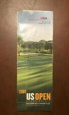 New listing 2001 US Open Golf Championship- Day 2 Pairings - NO RESERVE