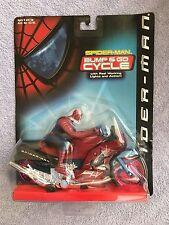 SpiderMan Bump & Go Cycle  Action Figure, on original hanger 2001 Toybiz