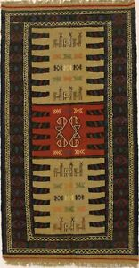 Geometric Hand-Woven Tribal Style 3X6 Wool Oriental Home Decor Area Rug Carpet