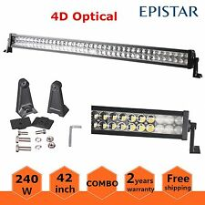 42inch 240W Epistar Combo LED Work Light Bar Off-road Truck SUV Ford 4D Optical