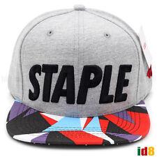 Staple Pigeon Naturel Rose Til Death Gray Snapback Embroidered Cap Hat