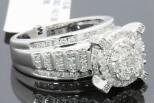 10K WHITE GOLD 1.66 CARAT WOMENS REAL DIAMOND BRIDAL WEDDING ENGAGEMENT RING