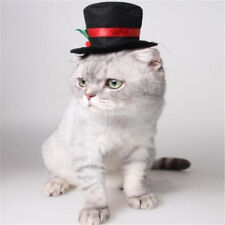 Cat Dog Pet Hat Christmas Festive Dress Up Gentleman Black Hat Costume Hat *