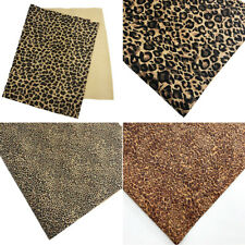 1Pc A4 Retro Leopard Cork Fabric DIY Handmade Sewing Craft Material Accessories
