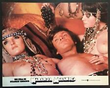Malcolm McDowell in bed with two naked girls Clockwork Orange, lobby card 2837