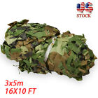 3x5m Military Camouflage Netting Hunting Camping Camo Army Net Woodland Leaves