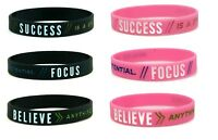 Motivational Silicone Wristband Bracelet Gym Sport Fitness Present For Him Her