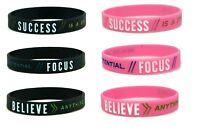 Success Focus Believe Motivational Silicone Wristband Gym Sport Fitness Present