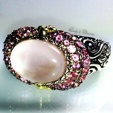 Barbara Bixby Doublet Pink MOP Tourmaline Sterling Silver 18k Gold Ring 6
