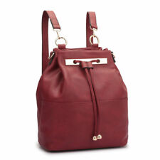 Womens Faux Leather Backpack Rucksack School Bags Travel Shoulder Purse