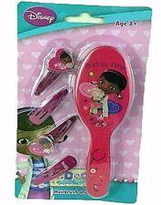 Girls Disney Frozen Elsa Hairbrush & Clip Set Pink Gift Brush