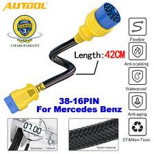 38Pin a 16Pin OBD2 adaptador de diagnóstico Ⅱ Cable Conector Para Mercedes Benz 42CM