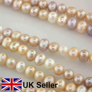 7mm multi-hued pastel freshwater pearls, for jewellery making, by Pearls Direct