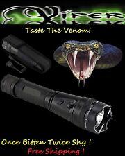 Viper 120 MILLION Volt Self Defense Stun Gun LED Light, free Tazer holster
