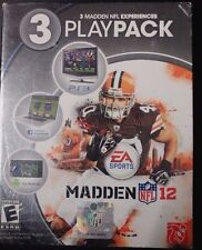 Madden NFL12  3 Madden NFL Experiences: 3 Play Pack Video Game PS3 NEW Free Ship