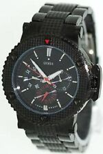 NEW Authentic GUESS Black STAINLESS-STEEL MULTI-FUNCTION WATCH U18501g1 , NWT