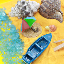 Miniature Beach Boats Set for Fairy Gardens by Mowbray Miniatures (12 pcs)