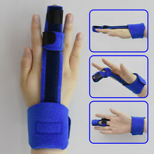 Blue Pain Relief Trigger Finger Fixing Splint Straightener Brace Corrector Tool