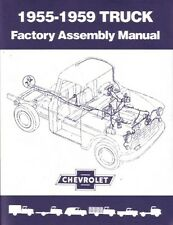 1957 1958 1959 Chevrolet Pickup Truck Assembly Manual Engine Drivetrain Wiring