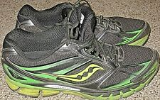 7572fe8bfeba Saucony Guide 8 Mens Running Shoes Athletic Black Slime Citron Sneakers  Size 11