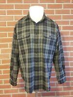 RRL Ralph Lauren Long Sleeve Button Front 100% Wool Shirt Mens Large Gray EUC