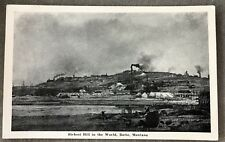 Postcard PC Montana MT Big Butte Mountain Mine Town View