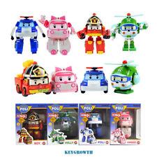 4pcs Robocar Transformer Set Poli Roy Amber Helly Transforming Robot Academy Toy