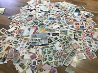 World / Foreign stamps on clipped down paper. Kiloware. FREE UK POSTAGE #E4