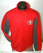NFL Team Apparel San Francisco 49ers Knit Textured Full Zip Jacket Size XL NWT