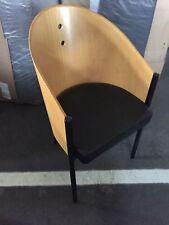Stuhl Go-In, Holzschale/Sitzpolster Kunstleder schwarz