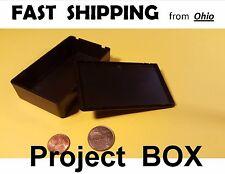 2 x Small Project Box - - Switch Box - - switch plate - black plastic idea box