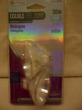 12V GU5.3 Base 35W Flood Landscape Light Bulb Halogen Double Life Utilitech 2Pk
