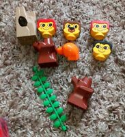 LEGO DUPLO HEADS & TREE TRUNK SECTIONS NICE CONDITION FOR ZOO OR FARM