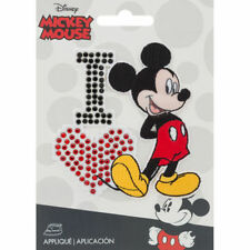 Disney Mickey Mouse Iron On Applique I Love Mickey 1pc