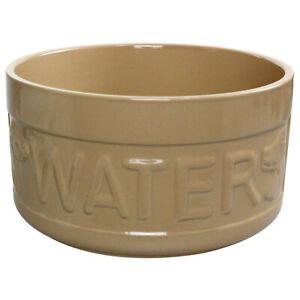 Mason Cash 20cm Stoneware Cane Lettered Dog Puppy Water Bowl Pet Feeding Plate